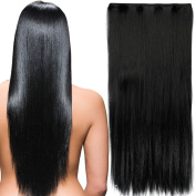 FIRSTLIKE 80cm Clip in Hair Extensions Much Long Thick Hairpiece 3/4 Full Head One Piece