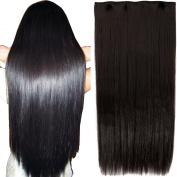 FIRSTLIKE Women Long Staight Clip in on Hair Extensions 3/4 Full Head One Piece Easy Attach