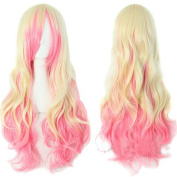 Diforbeauty Long Synthetic High Temperature Hair Women Big Wave Wigs Fashionabl for Cosplay+One Wig Comb+1 Wig Cap