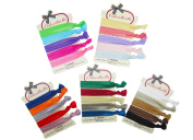 ColorBeBe - No-Crease, Soft and Stretchy Hair Ties - 25pcs (Assorted Colour) Solid Colour - HT09B