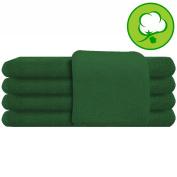 Green Salon Towel 100% Cotton 41cm x 70cm . Hand Towel- 1 DOZEN