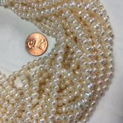 "Fresh Water Pearl 4x5-5.5mm, White Potato Shape, 15.5"""