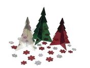 Holiday Time Trees Centrepiece and Glitter Snowflake Confetti