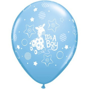 PIONEER BALLOON COMPANY It's a Boy Soft Giraffe Latex, 28cm , Multicolor
