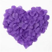 1000pcs Table Confetti Decoration Silk Rose Petals Fabric Artificial Flower Petals Wedding Birthday Party Purple OFFICE-249