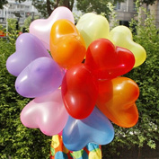 100pcs/lot 2.2g 30cm Balloon Birthday Party Baloons Aniversario Decorations Air Balloons Love Heart Shape OFFICE-247