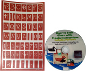 Over N Over, Reusable Glass Etching Stencils, Upper Case Letters + How to Etch & Patterns CD