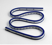 24 Inch (60cm) Flexible Curve Ruler Flex Design Rule, Ideal for use