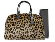 Trumpette Schleppbags Nappy Bag in Leopard Print Fur, Large