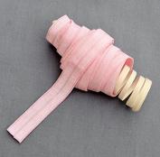 10 Yards Light Pink 5/8 Fold Over Elastic Shinny Foldover Elastic Cord Elastic Headband Elastic Lace FOE Hair Bow Ties DIY EL015