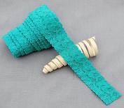 10 Yards Teal Blue 2.5cm Elastic Lace Stretch Lace Elastic Lace Trim Elastic Headband Bridal Garter Baby Hairbow EL035