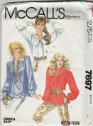 McCall's # 7697 Misses Poets, Romeo Blouse and Tie Sewing Pattern Size 14-16