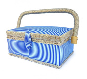 bbloop Vintage Sewing Basket (sm) with Sewing Notions
