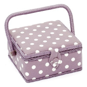 HobbyGift MRS/121 | Small Sewing Basket Mauve Spot Design