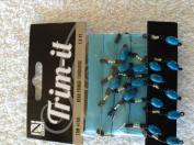 Nicole Trim-it Black & Turquoise Bead Fringe with Turquoise Ribbon 0.5m