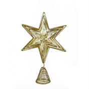 41cm Luxury Lodge Gold and Silver Foiled Cut-Out Star Christmas Tree Topper - Unlit
