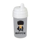 Grey Caped Superhero Sippy Cup