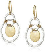 Robert Lee Morris Wire Wrapped Orbital Circle Drop Earrings