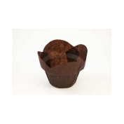 Novacart Brown Tulip Baking Cup--Round-Tip Step