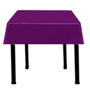 Square Satin Tablecloth 110cm x 110cm (PLUM) By Runner Linens Factory