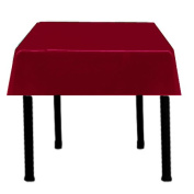 Square Satin Tablecloth 110cm x 110cm (BURGUNDY) By Runner Linens Factory
