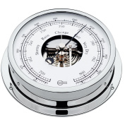 BARIGO Viking Series Ship's Barometer - Chrome Housing - 13cm Dial