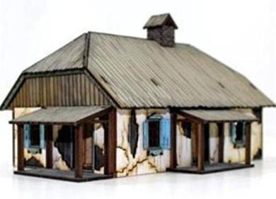 28mm Terrain Painted Ready to Build - Ukrainian Rural House