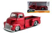 New 1:24 W/B Just Trucks 1952 Red Chevrolet Coe Pickup Diecast Model Car By Jada Toys