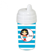 Blue Striped Supergirl Sippy Cup