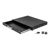 Navepoint Rack Mount Drawer For 48cm Server Cabinet Case Or DJ With Lock And Key 1U Black