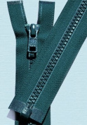 70cm Vislon Zipper ~ YKK #5 Moulded Plastic ~ Separating - S557 Tall Grass Blue