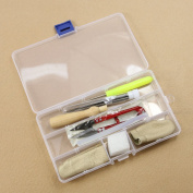 Estone 1set Needle Felting Starter Kit Wool Felt Tools Mat + Needle + storage box Accessories Craft