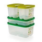 Tupperware Fridgesmart Container 4 Pcs Set Newest Design by Tupperware