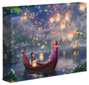Tangled - Thomas Kinkade Disney 20cm X 25cm Gallery Wrapped Canvas