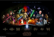 Star Wars Saga Movie Poster 60cm x 90cm