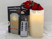 Flickering Flameless Candles Real Wax Real flickering Candle Best Flameless Candle with Remote Timer Included 8.1cm x 15cm Vanilla Scented Candle Great Gift Ideas Best Christmas Gifts from Simple Elegance