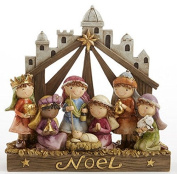 NOEL Nativity Manger 20cm Resin Children As Christmas Story Pageant Characters