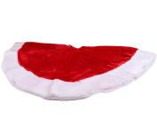 #Christmas SPECIAL OFFER# Ivenf 120cm Plush Mercerized Velvet Large Christmas Tree Skirt Christmas Party Decoration