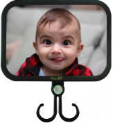 Tiny Leaf | Back Seat Baby Mirror for Car Seat | Shatterproof, Convex, Ajdustable, Rear Facing | Bonus...