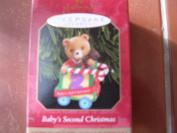 Hallmark Keepsake Christmas Ornament 1999 Baby's Second Christmas QX6669