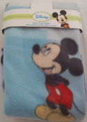 Disney Mickey Mouse Printed Fleece Blanket, Blue, Style #82425 by Cudlie Accessories
