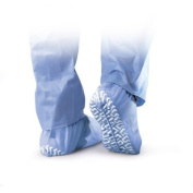Medline Industries NON28758 Non-Skid Pro Series Spunbond Shoe Covers, Latex Free, Regular/Large, Blue