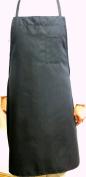 Oversized Black Bib Apron with Pensile Pocket