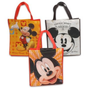 Large Vintage Style Reusable Mickey Mouse Face Non-Woven Grocery Tote Bag