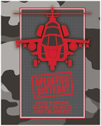 Creative Converting 8 Count Operation Camo Invitation, Grey