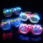 New Years Eve Party Supplies Happy New Year LED Slotted Sunglasses