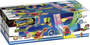 Mindscope Twister Tracks 360 Loop 4.6m (feet) of Neon Glow in the Dark Track with Two Light-Up (Pulse LED) Vehicles Emergency Vehicle Series