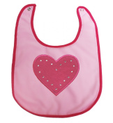 Valentine Red Hot Pink Heart White Love Baby Clothing Lace Feeding Bib