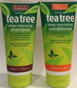 Beauty Formulas Australian Tea Tree Deep Cleansing Shampoo 200ml & Conditioner 200ml