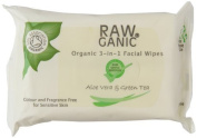 Raw Organic Toning/ Cleansing and Moisturising Pack of 25 Facial Wipes by Marshall Curtis Ltd